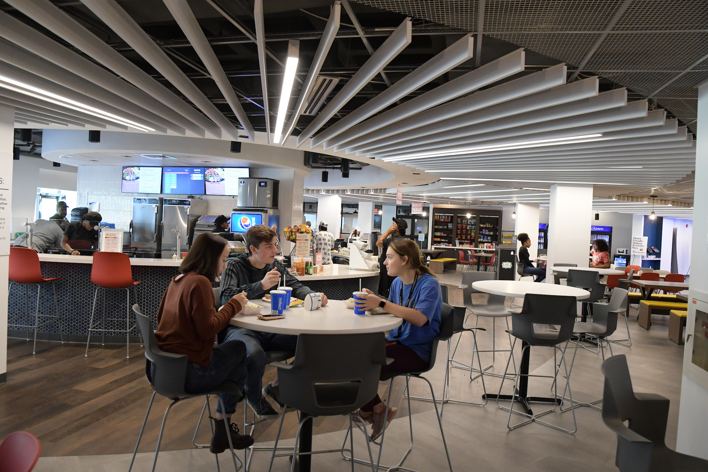 Students eat together in Cranberry's