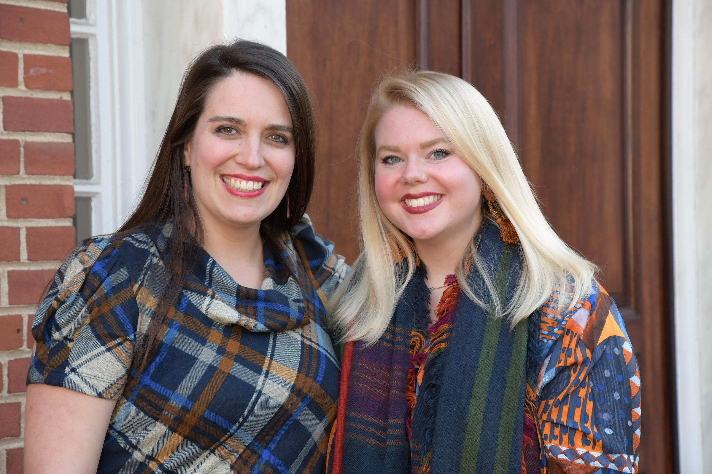 Emily Tiberi and Meghan Blackwood support the arts