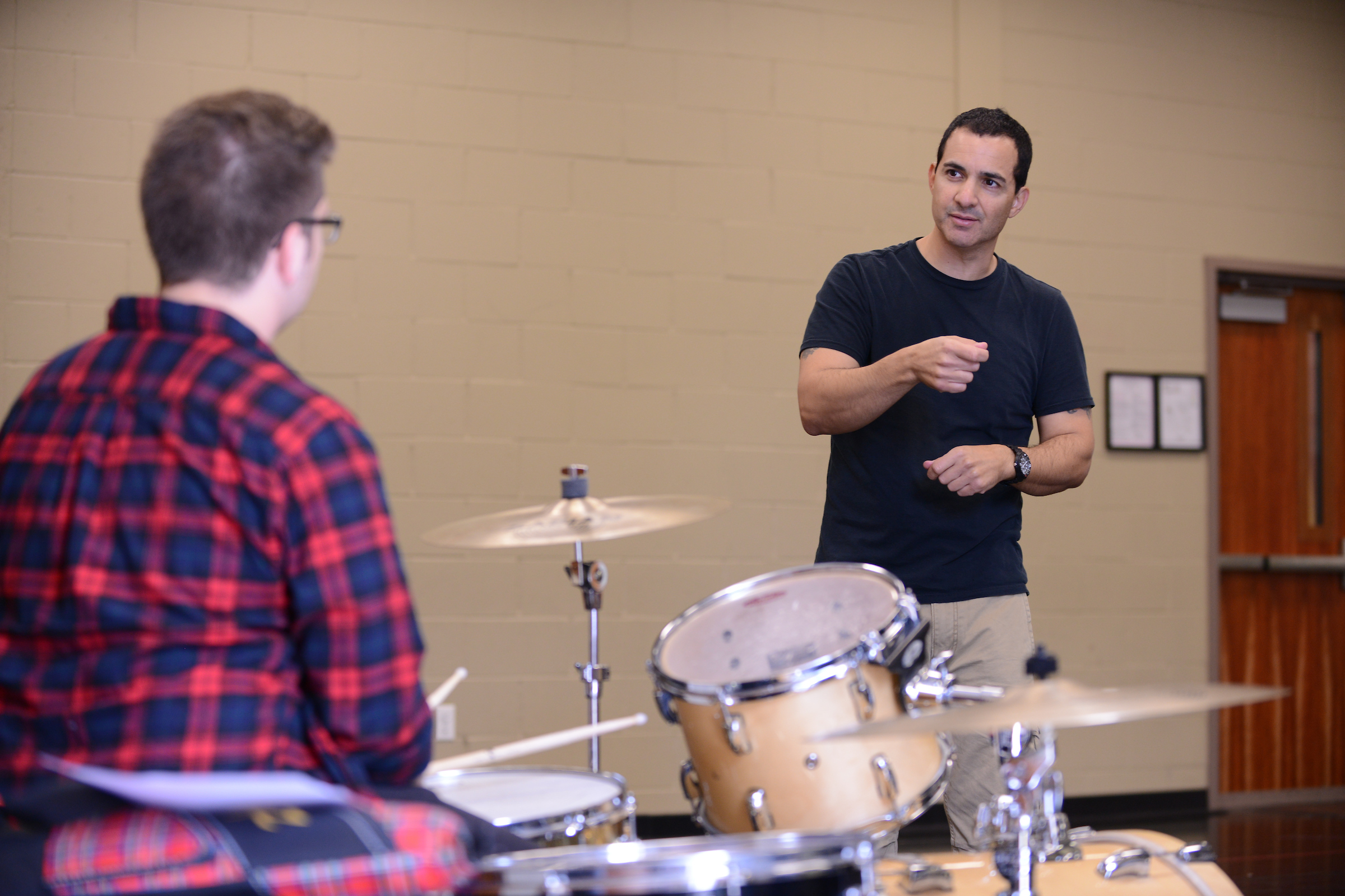 Rich Scanella provides drum instruction