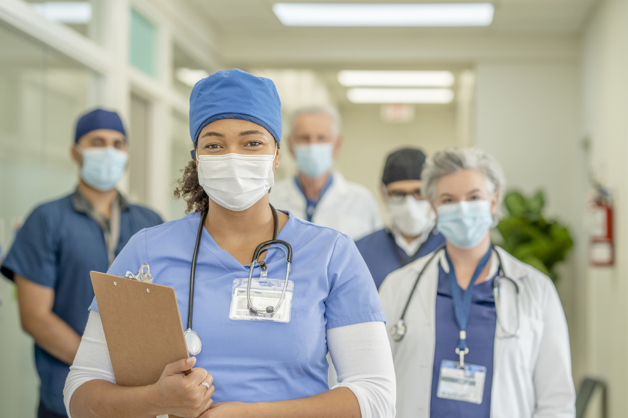 Group of nurses and health care professionals