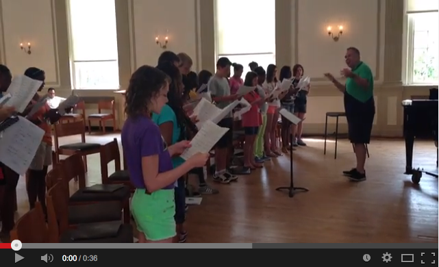Middle School Vocal Institute on YouTube