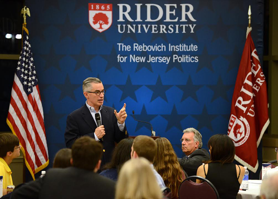 Jim McGreevey at Rider University