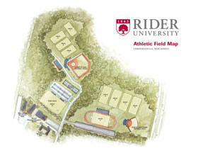 Rider Athletic Field Map