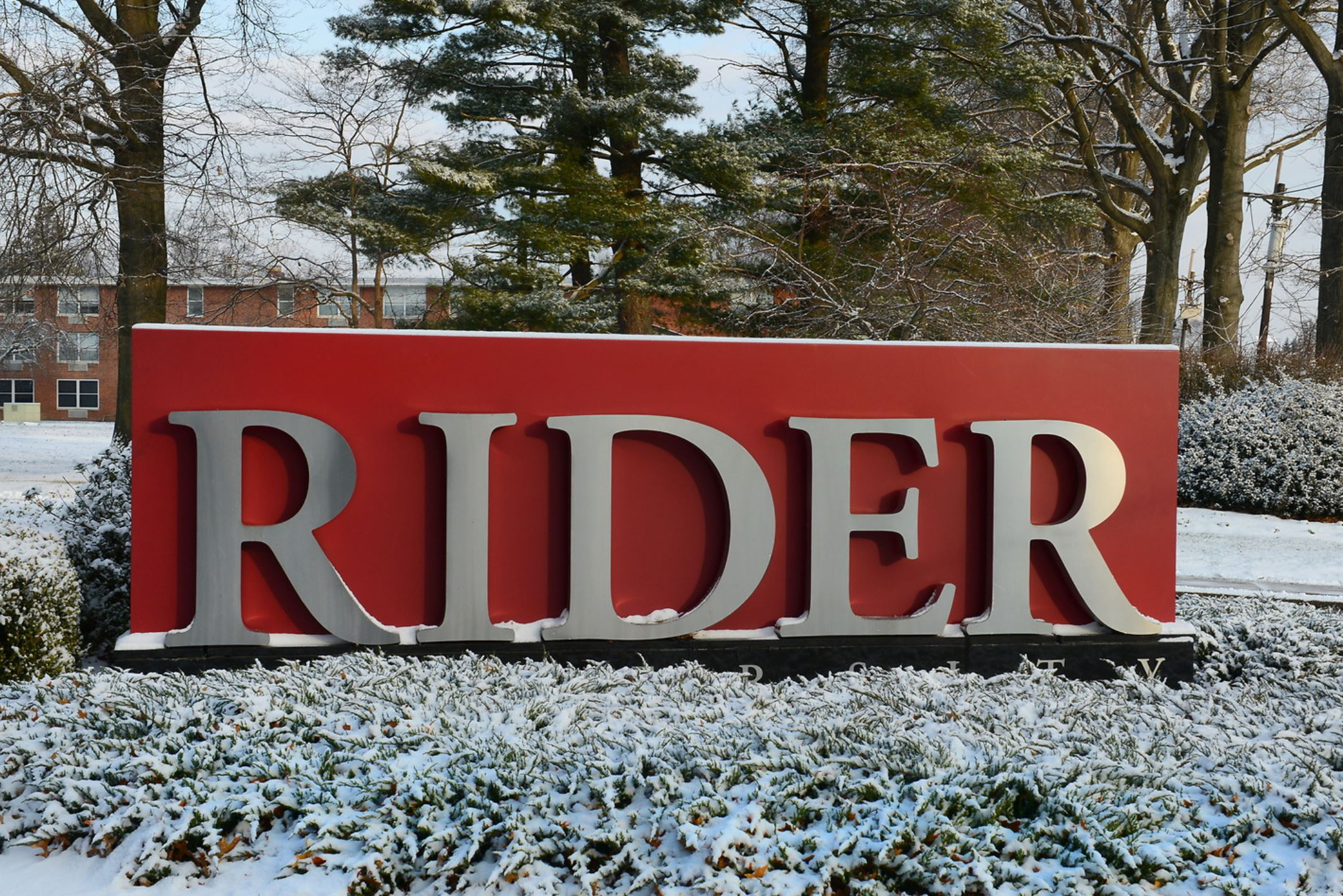 Rider sign in the snow