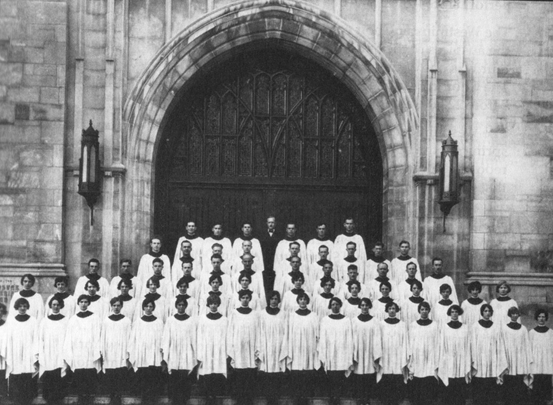 Westminster Choir at the Westminster Presbyterian Church in 1926