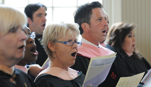 Westminster Choir Alumni singing