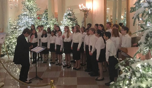 Cantus singing at the White House