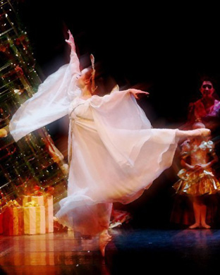 Many Rider Dance students return to home studios to perform in Nutcracker. This is Elizabeth Tkaczynski '14, with Vineland Regional Dance Company.