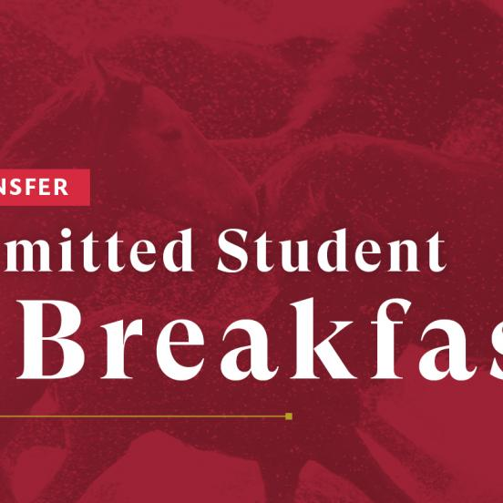 Admitted Transfer Student Breakfast
