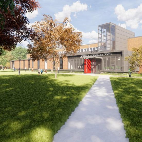 Conceptual renderings of the Science and Technology Center expansion