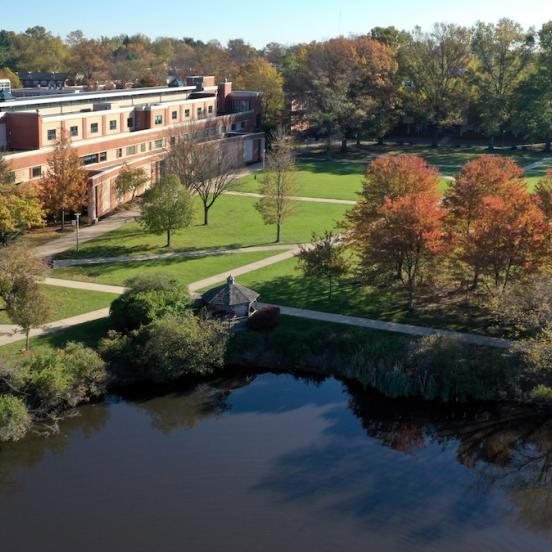 Aerial view of Norm Brodsky College of Business