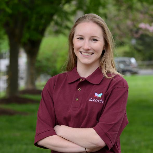 Paige Santhin '15, Bancroft employee and a graduate of Rider's applied psychology program