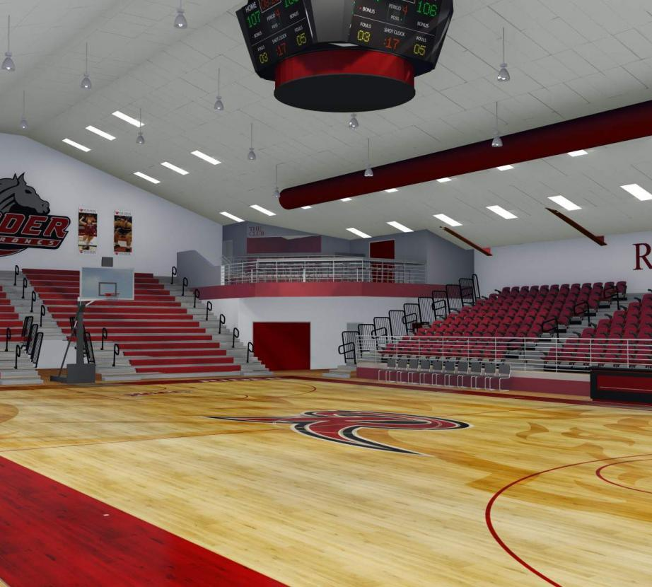 Alumni gym rendering