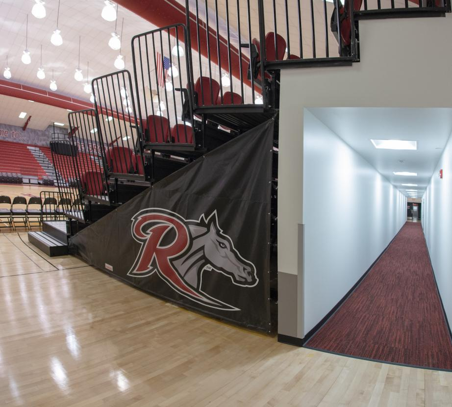 Alumni gym side view and tunnel