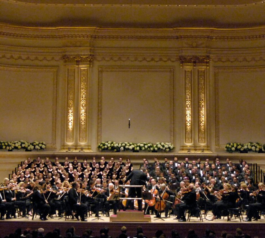 Choir on Stage at Carnegie Hall
