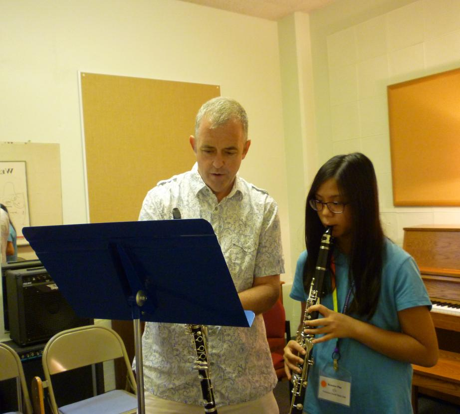 Professor and Clarinet Student