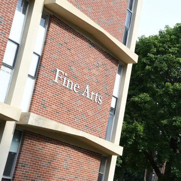 Exterior shot of the Fine Arts Building