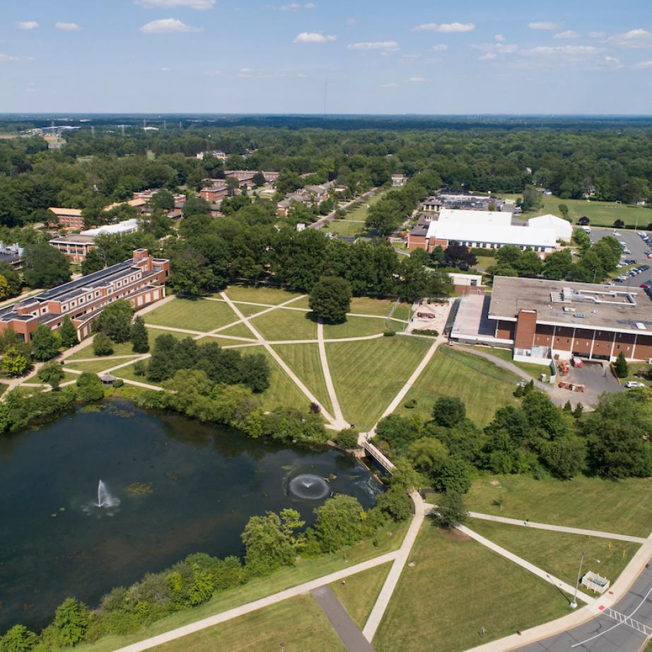 Aerial picture of Rider Campus